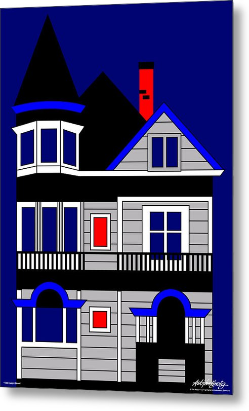 Metal Print featuring the digital art 1080 Haight Street by Asbjorn Lonvig