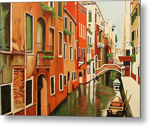 Venice Italy Metal Print featuring the painting Venice In Color by Patrick Hunt