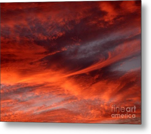 Sunset Metal Print featuring the photograph Fire in the Sky by Julia Walsh