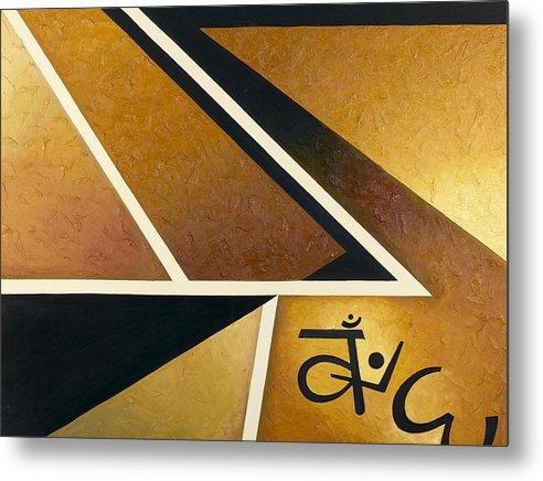 Abstract Geometry Metal Print featuring the painting Dhammapada by Ara Elena