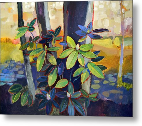 Landscape Metal Print featuring the painting My Back Yard by Farhan Abouassali