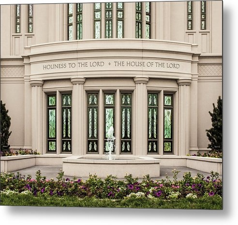 Payson Metal Print featuring the photograph Payson Temple - House of the Lord by Brent Borup
