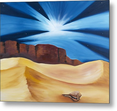 Desert Metal Print featuring the painting Presence of Eternity by Ara Elena