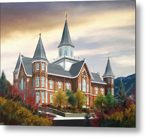 Provo Metal Print featuring the painting Provo City Center Temple by Brent Borup
