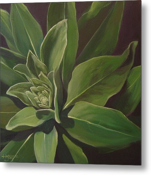 Closeup Of Mullein Plant Metal Print featuring the painting Beautiful Stranger by Hunter Jay
