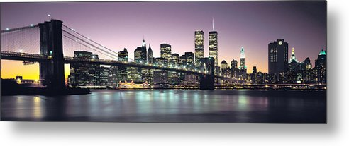 New York City Skyline Metal Print featuring the photograph New York City Skyline by Jon Neidert