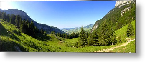 Appenzell Metal Print featuring the photograph Panorama Of The Appenzeller Hills Near Mount Saentis Switzerland by PIXELS XPOSED Ralph A Ledergerber Photography