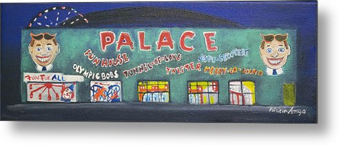 Tillie Of Asbury Park Metal Print featuring the painting The Tiny Tiny Palace by Patricia Arroyo