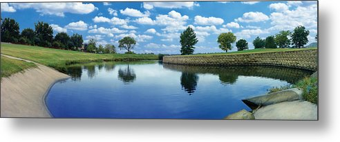 Clouds Metal Print featuring the photograph Lakeridge Duck Pond by Robert Hudnall