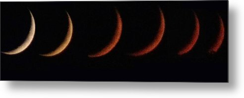 Red Moon Metal Print featuring the photograph Lunar Eclipse by Toni Berry