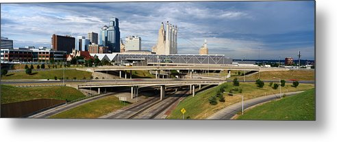 Panoramic Metal Print featuring the photograph Kansas City Skyline, Missouri by Jeremy Woodhouse