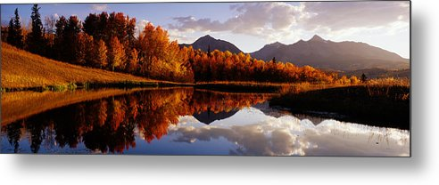 Water's Edge Metal Print featuring the photograph Usa, Colorado, Telluride, Sunrise Peak by Jeremy Woodhouse