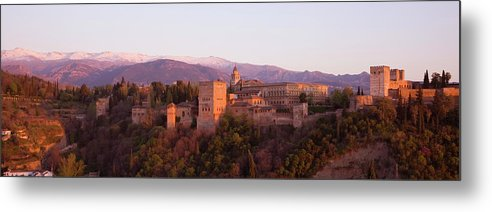 Scenics Metal Print featuring the photograph View To The Alhambra At Sunset by David C Tomlinson