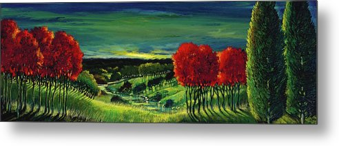 Ford Smith Metal Print featuring the painting Wanderlust by Ford Smith