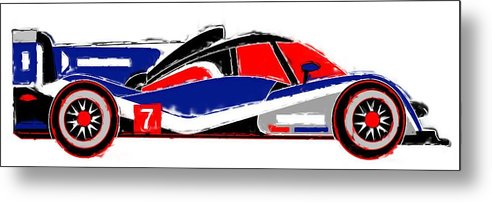 Le Mans Metal Print featuring the mixed media Le Mans by Asbjorn Lonvig