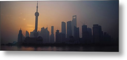 Tranquility Metal Print featuring the photograph Shanghai In Early Morning by Xijia Cao