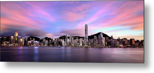Tranquility Metal Print featuring the photograph Victoric Harbour, Hong Kong, 2013 by Joe Chen Photography