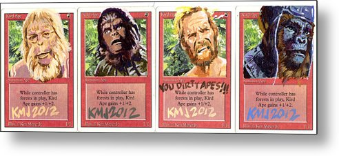 Planet Of The Apes Metal Print featuring the painting Apes is apes by Ken Meyer jr