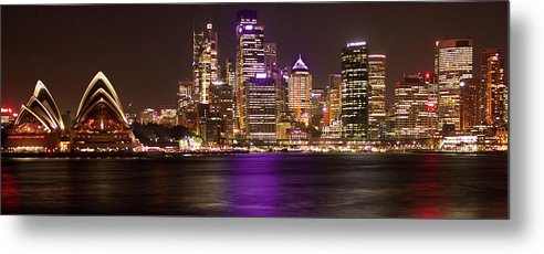 Panoramic Metal Print featuring the photograph Sydney In Bronze by Capturing The Beauty Around Us, One Chapter At A Time...