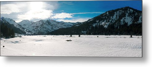 Metal Print featuring the photograph Squaw Valley Panoramic by Adam Blankenship