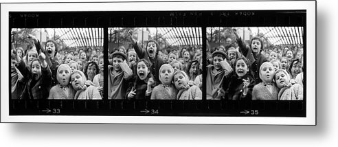 Timeincown Metal Print featuring the photograph Composite Of Frames 33 34 & 35 Of by Alfred Eisenstaedt
