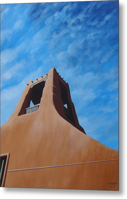 Taos Metal Print featuring the painting Taos Memory by Hunter Jay