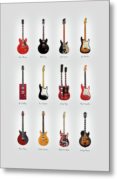 Guitar Icons No1 by Mark Rogan
