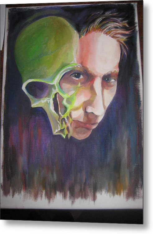 Skull Metal Print featuring the painting What Is Within by Jan Harris Arduini