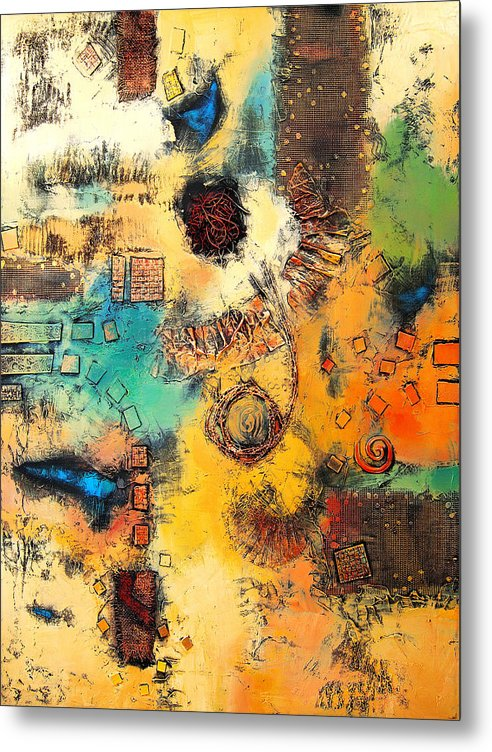 Metal Print featuring the painting Vision II by Farhan Abouassali