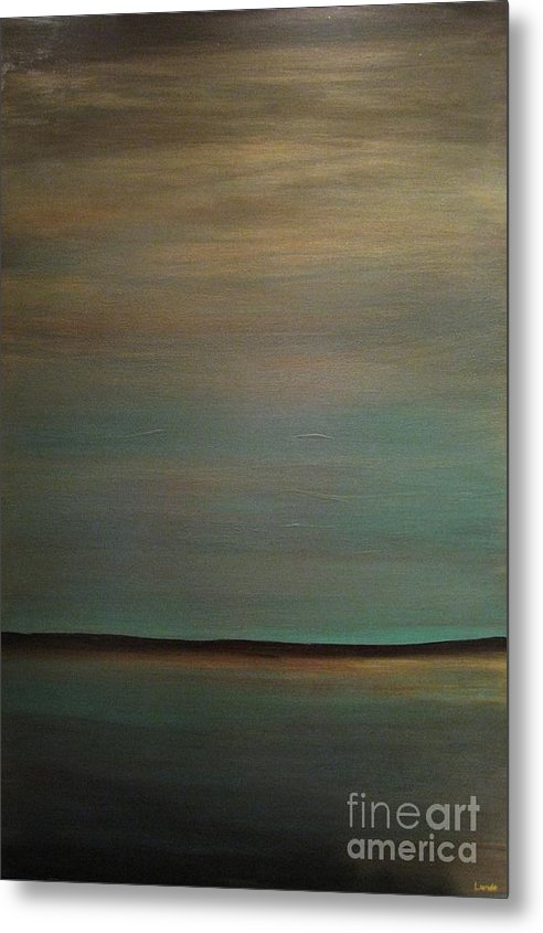 Landscape Metal Print featuring the painting Sky So Blue by Sandra Lunde