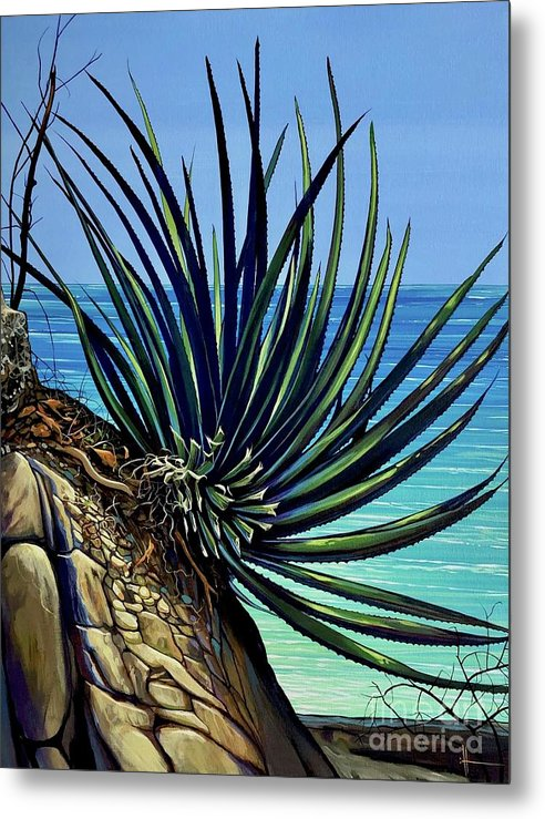 Yucca Metal Print featuring the painting Tenacity by Hunter Jay