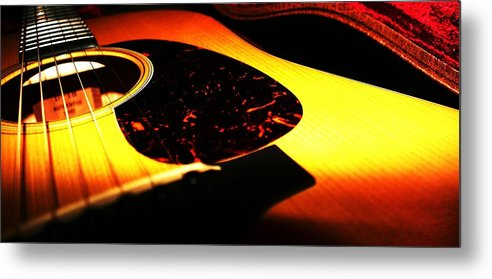 Guitar Metal Print featuring the photograph Martin by Erika Lesnjak-Wenzel