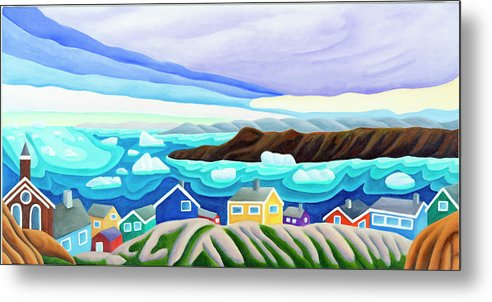 Arctic Landscape. Greenland Metal Print featuring the painting 69 Degrees 13 Minutes North by Lynn Soehner