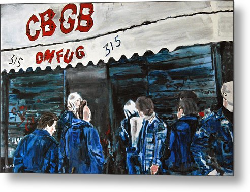 New York City Paintings Metal Print featuring the painting Cbgb's by Wayne Pearce