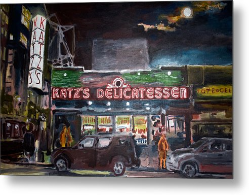 New York City Paintings Metal Print featuring the painting Katz Deli by Wayne Pearce
