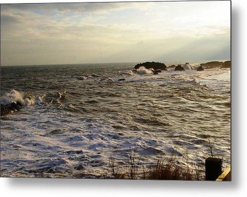Sea Metal Print featuring the photograph Choppy Seas by Veron Miller