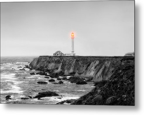Point Arena Metal Print featuring the photograph Point Arena Lighthouse by Rhonda Swanson
