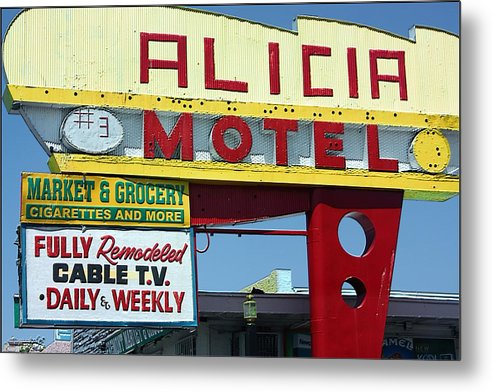 Alicia Motel Metal Print featuring the photograph Alicia Motel Las Vegas by Bill Buth