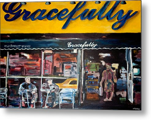 New York City Paintings Metal Print featuring the painting Gracefully by Wayne Pearce