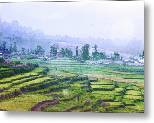 Landscape Metal Print featuring the photograph Misty Morning by Rochak Timilsina