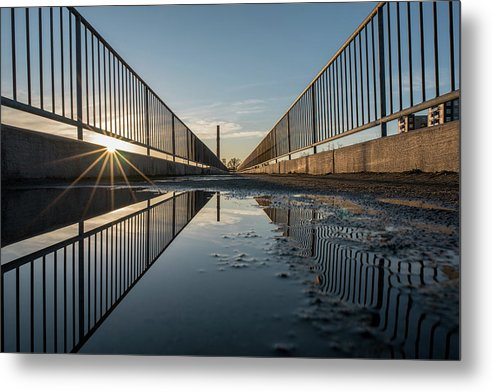 Rva Metal Print featuring the photograph Morning Sun At The Flood Wall by Doug Ash