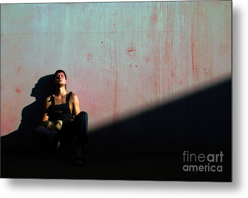 Light Metal Print featuring the photograph The Friend To My Friend... by Vadim Grabbe