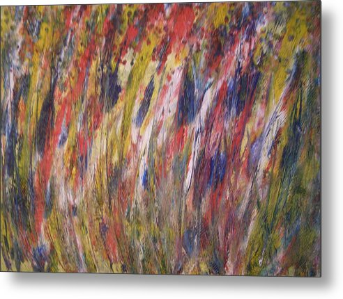 Abstract Metal Print featuring the painting Spirits Rising by Don Phillips