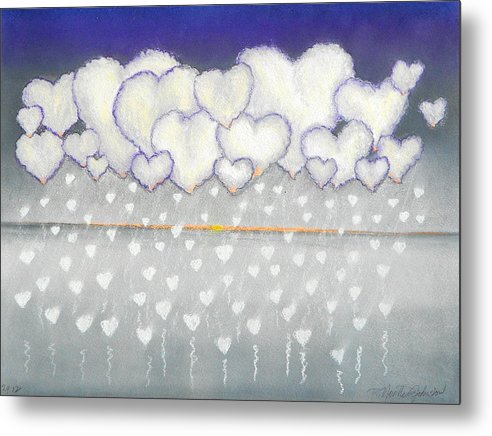 Storm Metal Print featuring the mixed media Heart Storm by R Neville Johnston