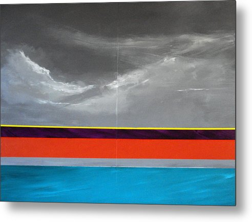 Seascape Impression Metal Print featuring the painting Monsoon Sky by Paul Miller