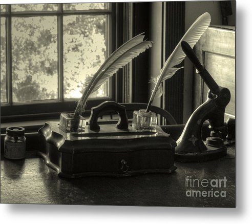 Quil Metal Print featuring the photograph Word Processor Mk1 by Steev Stamford