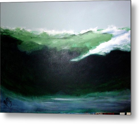 Surf Metal Print featuring the painting Ghost Surfer by Paul Miller
