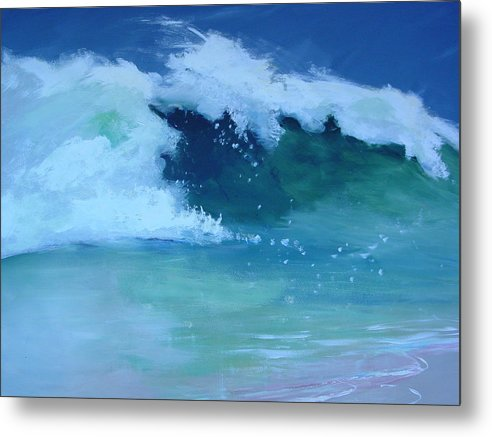 Surf Metal Print featuring the painting Hapuna Beach Shore Stack by Paul Miller