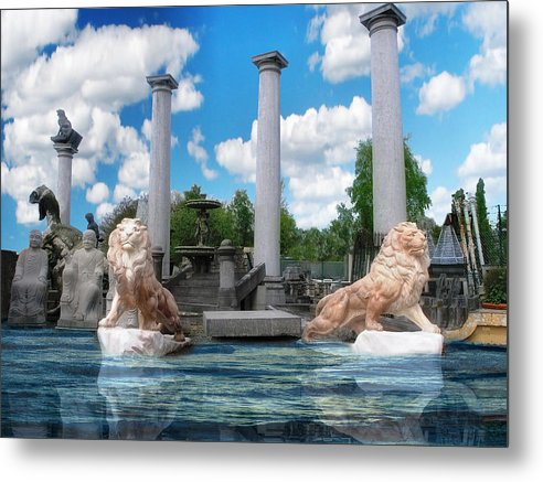Lion Metal Print featuring the digital art Lion Gate 007 by The Hybryds