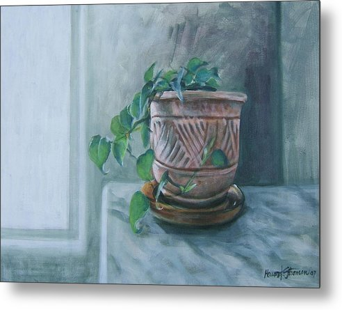 Still Life Metal Print featuring the painting Let There Be Light by Howard Stroman